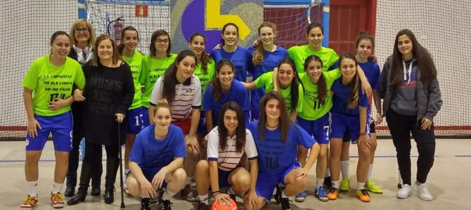 Partit solidari de futbol sala femení per recaptar fons per a AMIDA